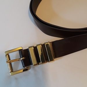 Michael Kors belt with gold hardware